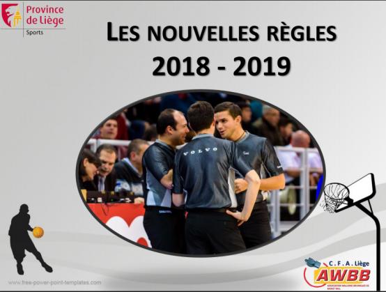 Les nouvelles règles 2018 – 2019