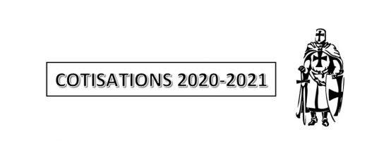 Cotisations saison 2020 – 2021