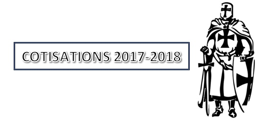 Cotisations saison 2017 – 2018