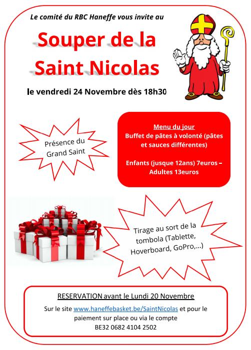 Les inscriptions pour le souper de la Saint Nicolas sont ouvertes