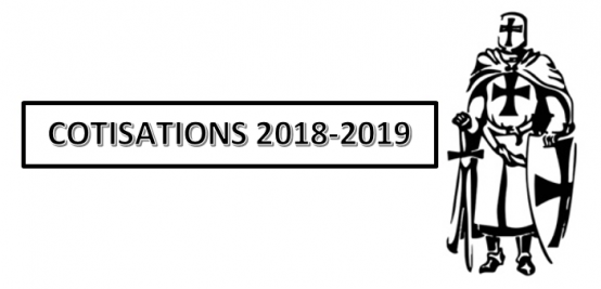 Cotisations saison 2018 – 2019