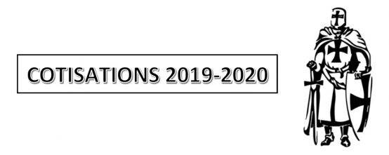 Cotisations saison 2019 – 2020