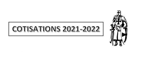 Cotisations saison 2021 – 2022